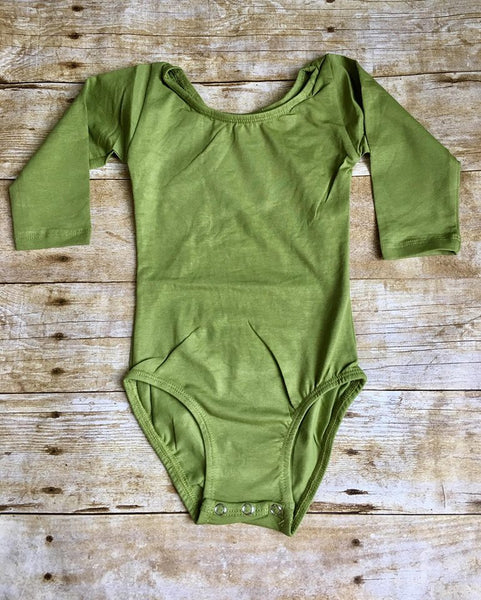 Olive Long Sleeve Leotard
