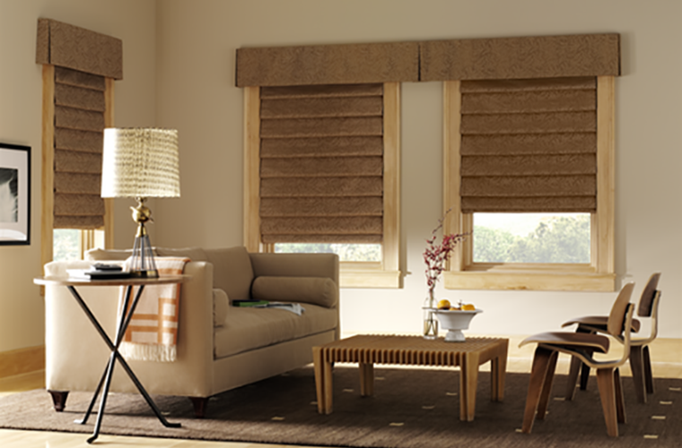Hunter Douglas Window Treatment  design studio  neutral living room