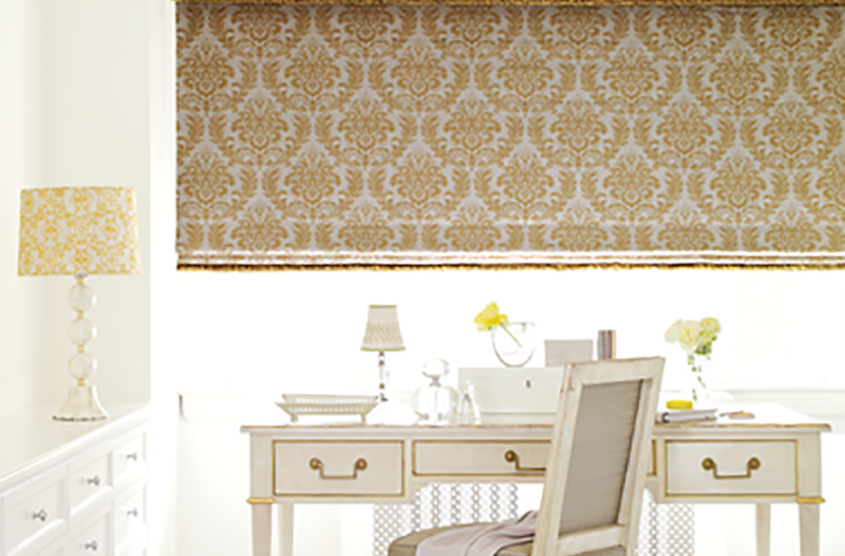 Hunter Douglas Window Treatment  design studio demask pattern vanity