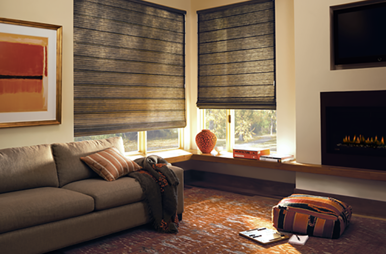 Hunter Douglas Window Treatment  design studio corner reading nook