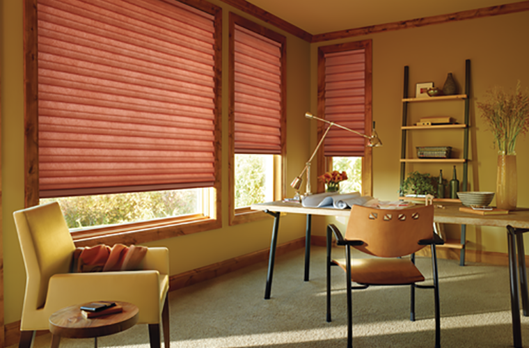 Hunter Douglas Window Treatment solera fall colours in study