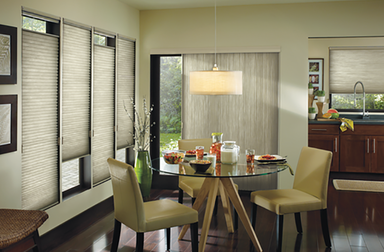 Hunter Douglas Window Treatment Applause horizontal and vertical