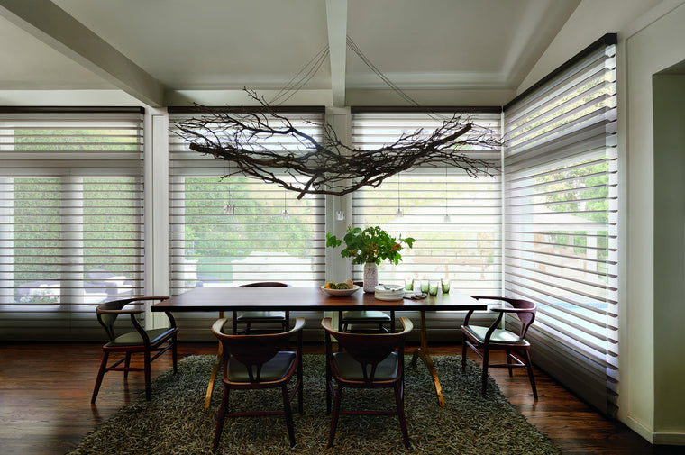Hunter Douglas Silhouette Window Treatment Kelly's favourite photo of a beautiful dining room