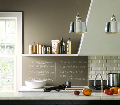 Designer- Quality colour chalkboards from Benjamin Moore. Choose any Benjamin Moore colour!