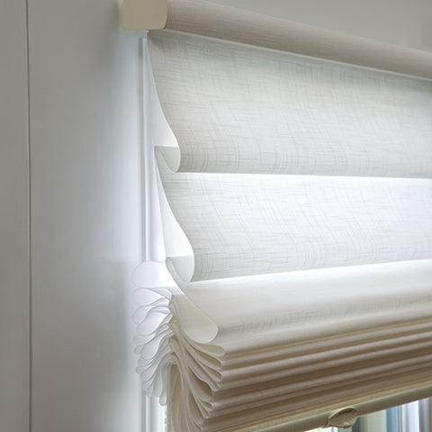 Hunter Douglas offers soft, sculpted folds to provide an elegantly tailored modern looking window treatment.