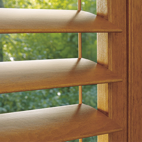 Hunter Douglas Shutters are beautiful solutions for your windows which are available in wood, hybrid materials and Polysatin™ compound construction.