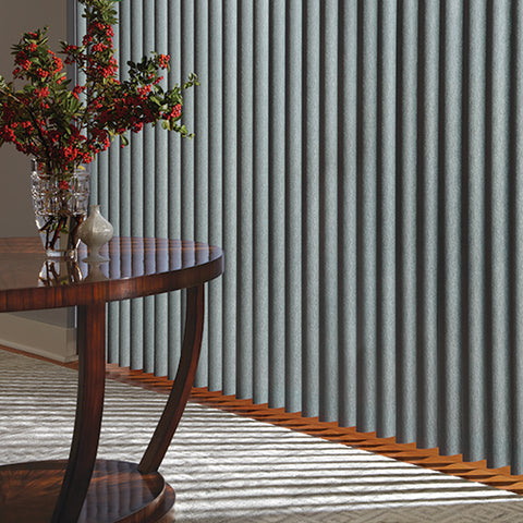 Cover wide window expanses and sliding-glass doors with Hunter Douglas Vertical Blinds.