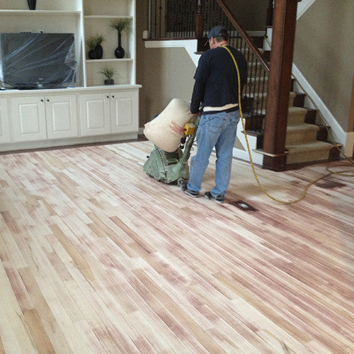 Sanding and prepping a floor for finishing