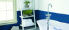 Vibrant Blue and white bathroom