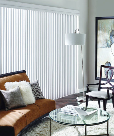 Hunter Douglas Window Blind Cadence Vertical Blind in Sudbury Living room