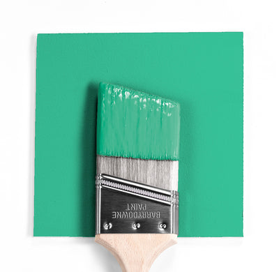 Benjamin Moore Colour 2036-40 Meadowlands Green wet, dry colour sample.
