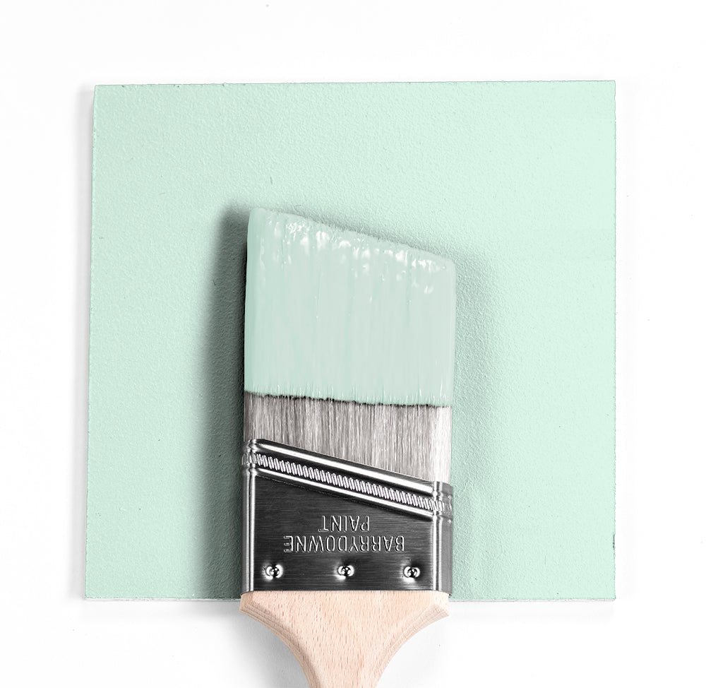 Benjamin Moore Colour 2036-70 Creme de Mint wet, dry colour sample.