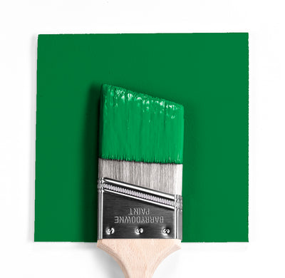 Wet and dry colour sample of Benjamin Moore 2037-20, Jade Green.