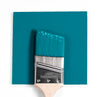 Benjamin Moore Colour 2155-30 Caribbean Blue Water wet, dry colour sample.
