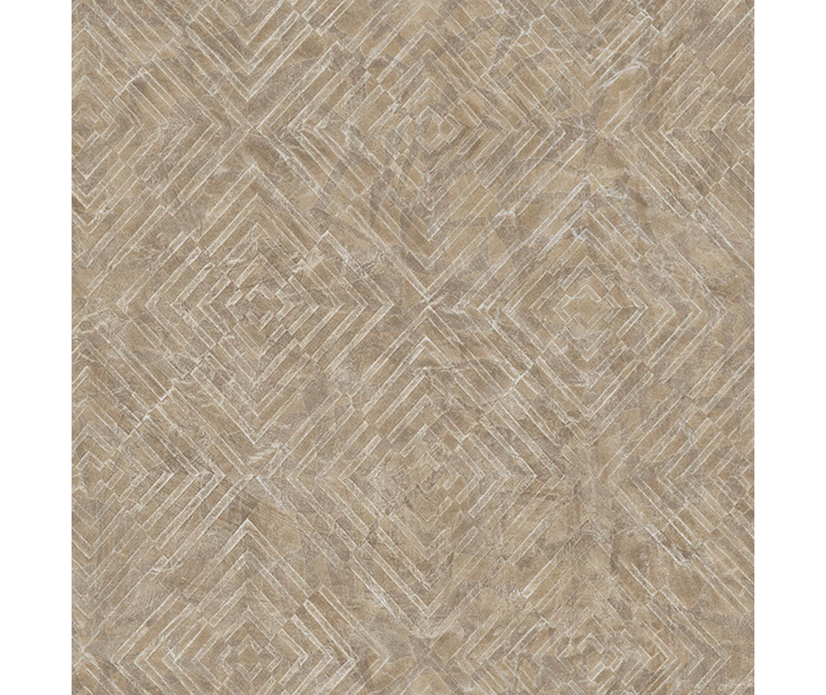 Labyrinth Bronze Geometric Wallpaper available at Barrydowne Paint