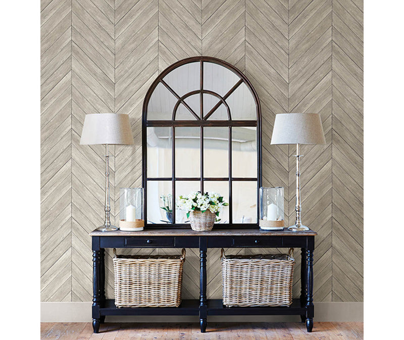 Parisian Dove Parquet Wallpaper available at Barrydowne Paint