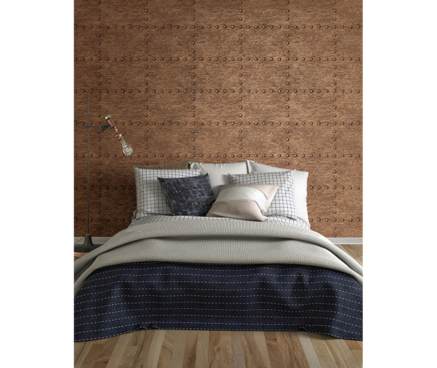 Otto Copper Hammered Metal Wallpaper available at Barrydowne Paint