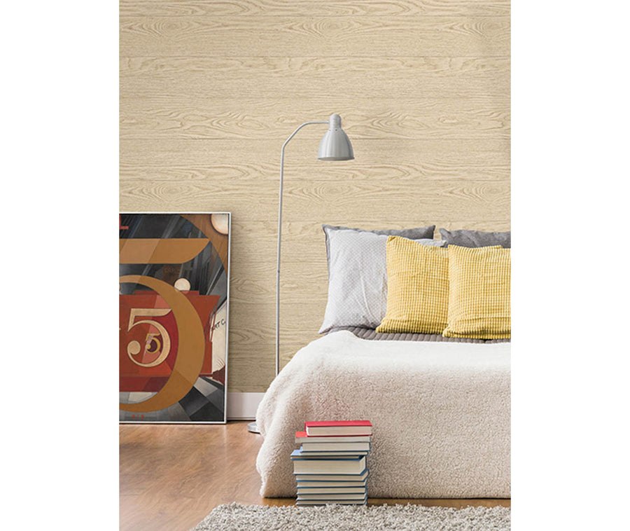 Salvaged Wood Neutral Plank Wallpaper available at Barrydowne Paint