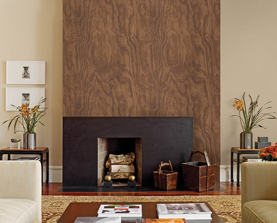 Bentham Brown Plywood Wallpaper available at Barrydowne Paint