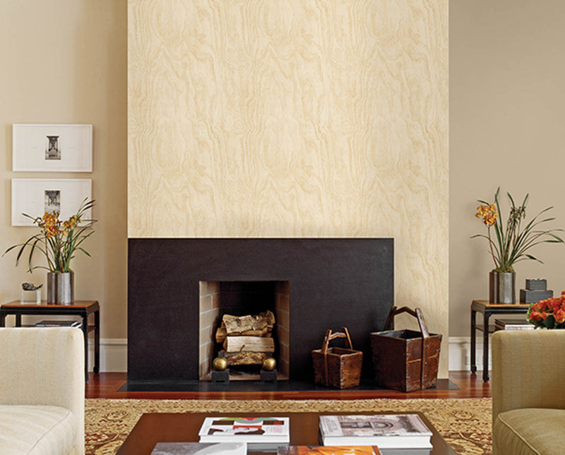 Bentham Neutral Plywood Wallpaper available at Barrydowne Paint
