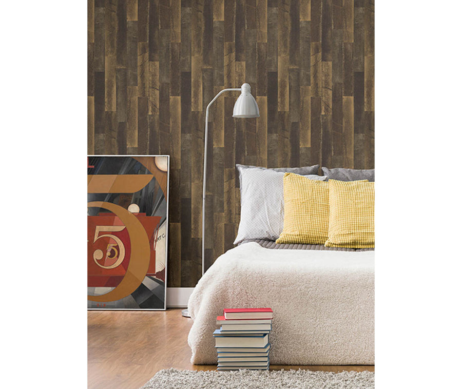 Antique Floorboads Brown Wood Wallpaper available at Barrydowne Paint