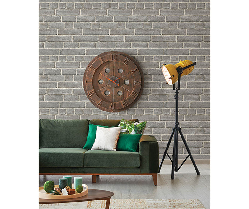 Façade Grey Brick Wallpaper available at Barrydowne Paint