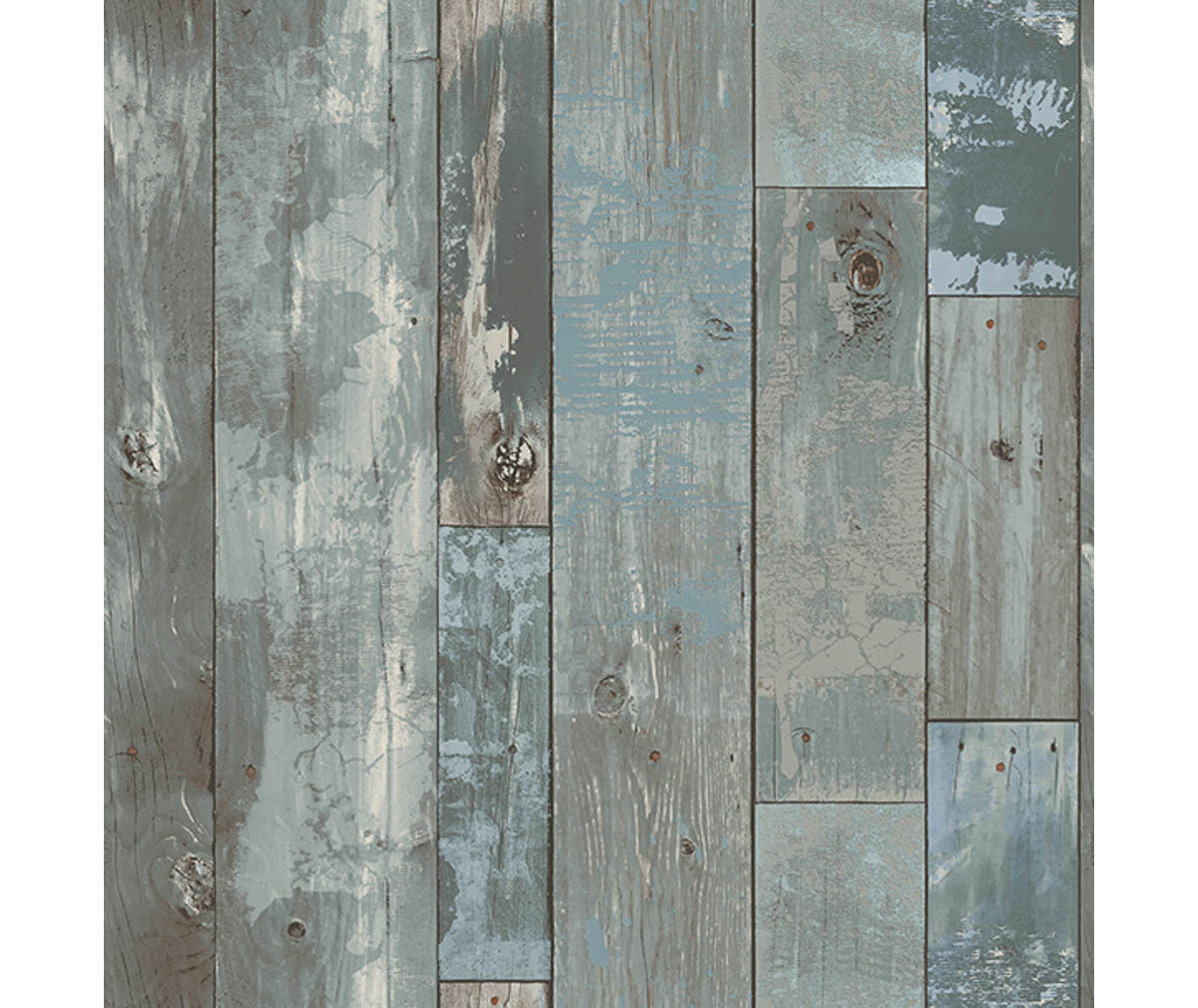 Deena Blue Distressed Wood Wallpaper available at Barrydowne Paint