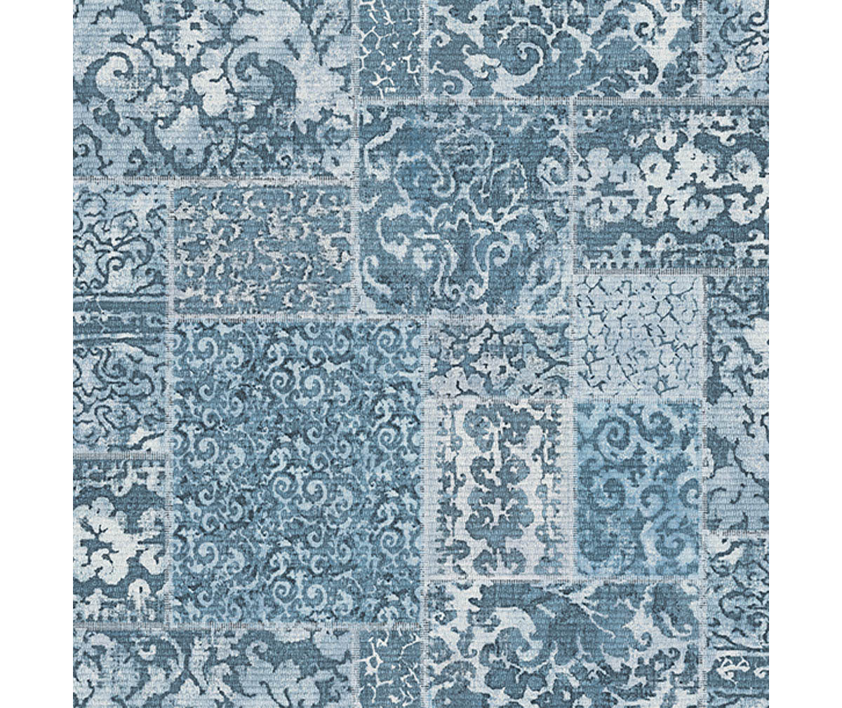 Esma Blue Vintage Carpet Wallpaper available at Barrydowne Paint