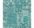 Esma Teal Vintage Carpet Wallpaper available at Barrydowne Paint