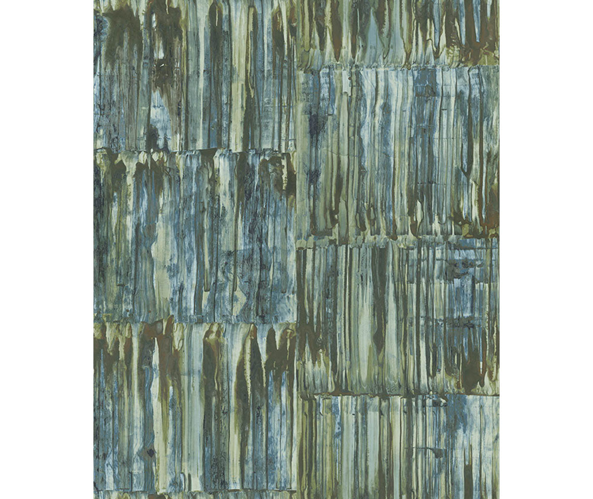 Patina Panels Blue Metal Wallpaper available at Barrydowne Paint