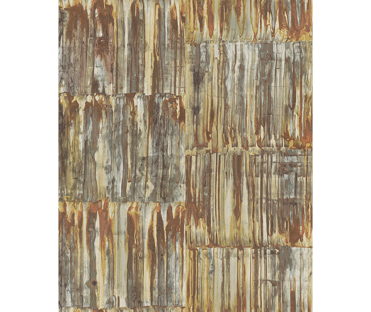 Patina Panels Copper Metal Wallpaper available at Barrydowne Paint