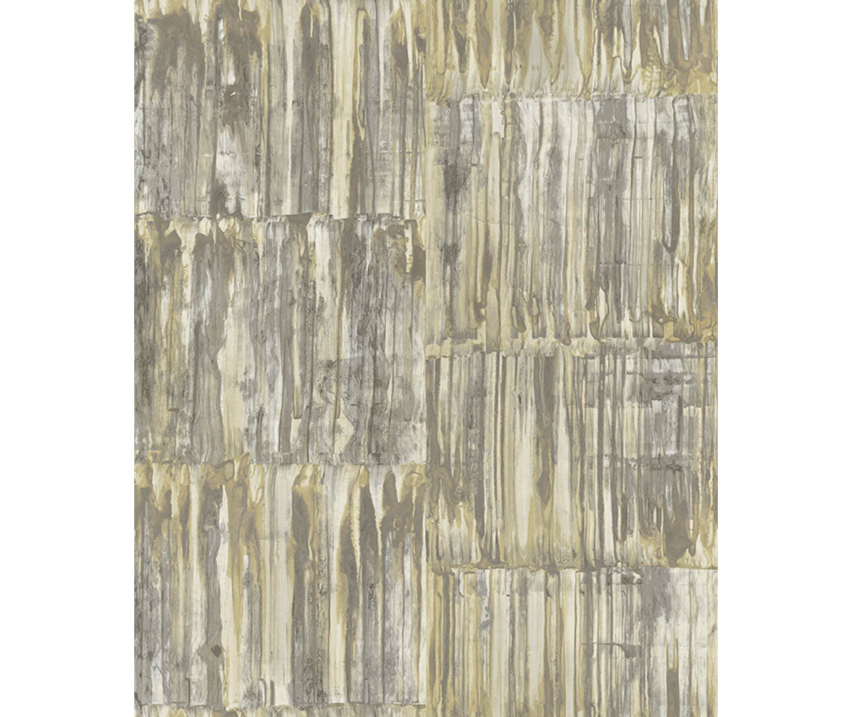 Patina Panels Yellow Metal Wallpaper available at Barrydowne Paint