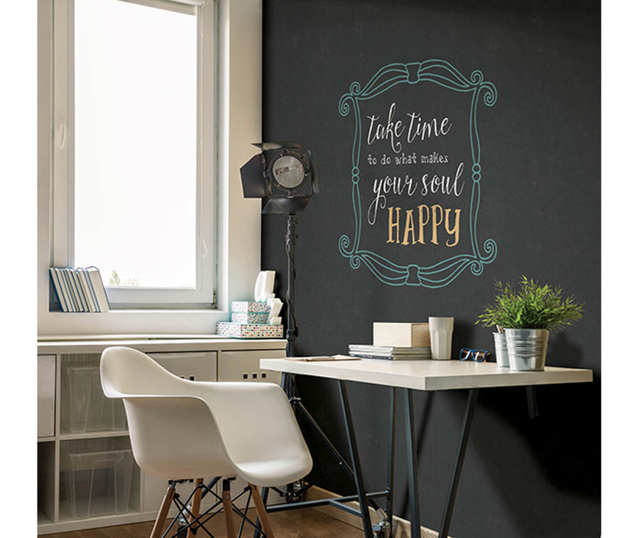 Indica Charcoal Antique Chalkboard Wallpaper available at Barrydowne Paint