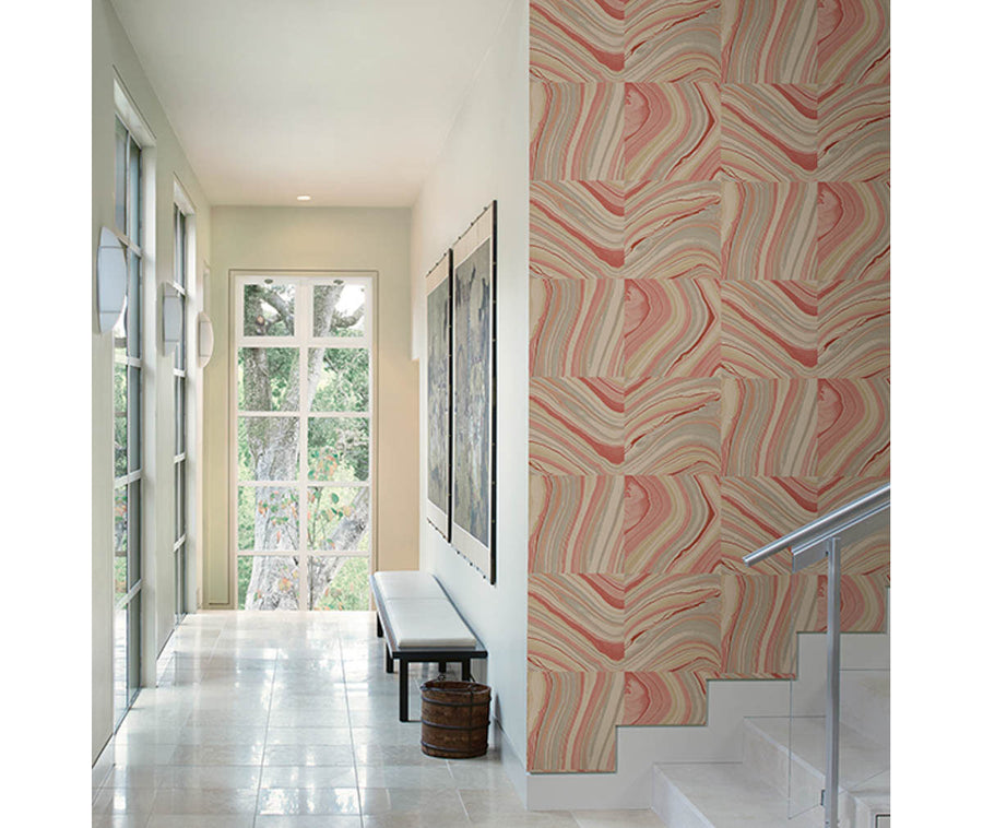 Agate Coral Stone Wallpaper available at Barrydowne Paint