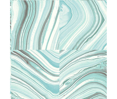 Agate Aqua Stone Wallpaper available at Barrydowne Paint
