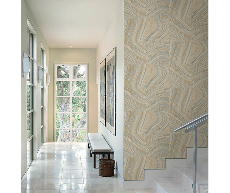 Agate Beige Stone Wallpaper available at Barrydowne Paint