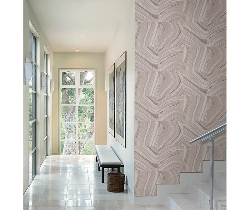 Agate Plum Stone Wallpaper available at Barrydowne Paint