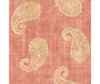 Kashmir Coral Paisley Wallpaper available at Barrydowne Paint