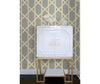 Mandara Grey Trellis Wallpaper room mock-up available at Barrydowne Paint