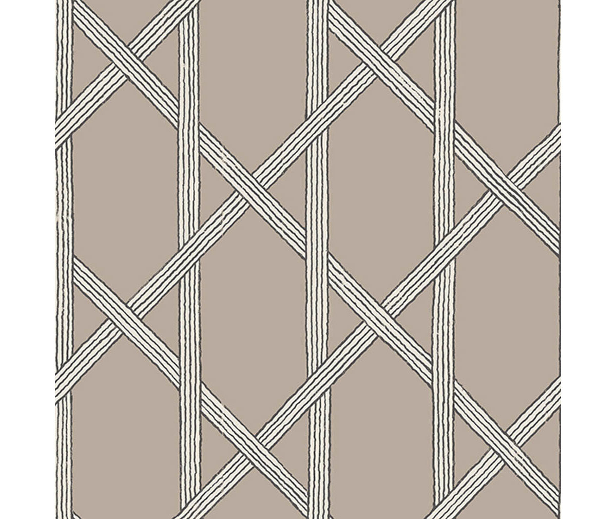 Mandara Taupe Trellis Wallpaper available at Barrydowne Paint