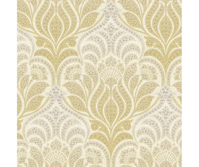 Twill Yellow Damask Wallpaper available at Barrydowne Paint