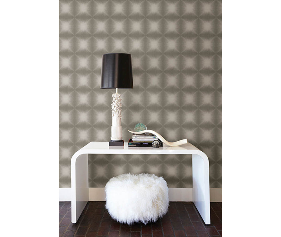 Echo Grey Geometric Wallpaper available at Barrydowne Paint