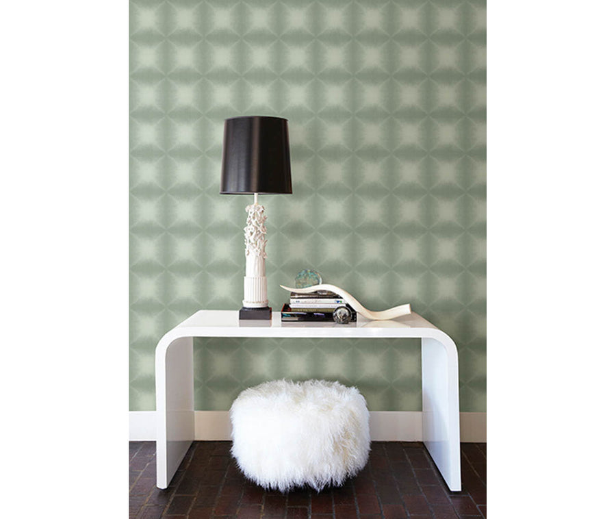 Echo Sage Geometric Wallpaper available at Barrydowne Paint