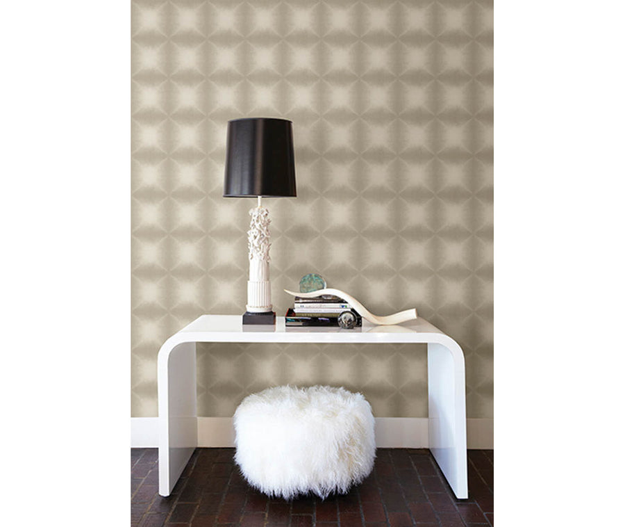 Echo Bronze Geometric Wallpaper available at Barrydowne Paint
