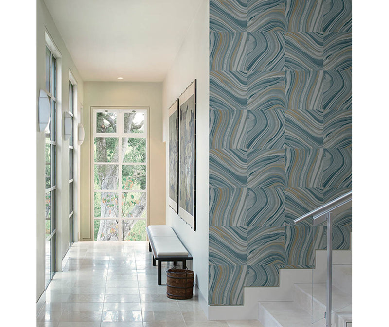 Agate Blue Stone Wallpaper available at Barrydowne Paint