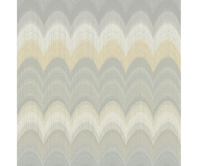 August Yellow Wave Wallpaper available at Barrydowne Paint
