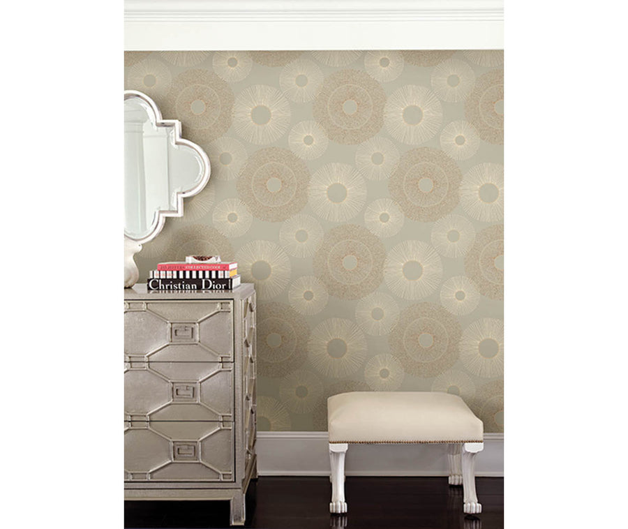 Eternity Taupe Geometric Wallpaper available at Barrydowne Paint