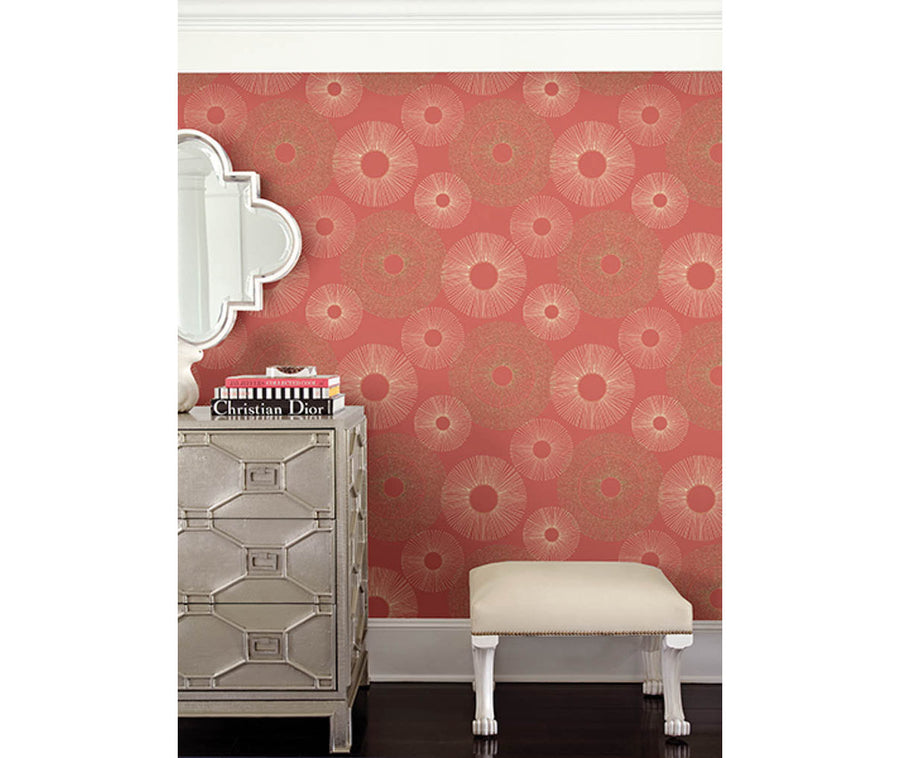 Eternity Coral Geometric Wallpaper available at Barrydowne Paint