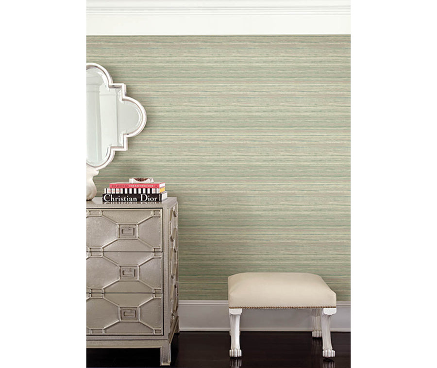 Arakan Sage Stripe Wallpaper available at Barrydowne Paint