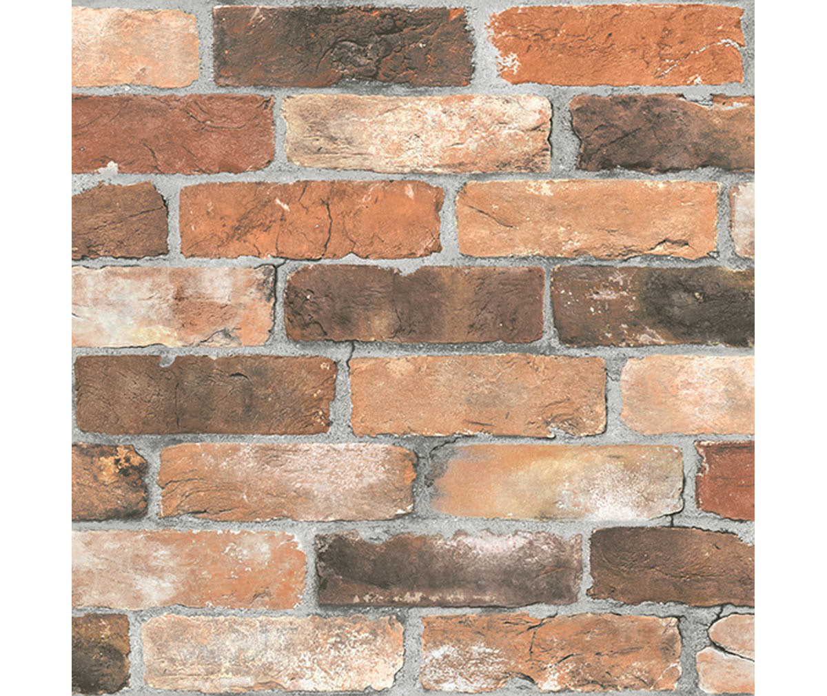 Reclaimed Bricks Orange Rustic Wallpaper available at Barrydowne Paint